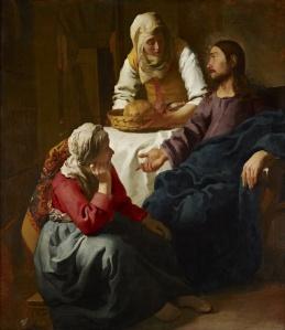 Le Christ dans la maison de Marthe et Marie, Vermeer