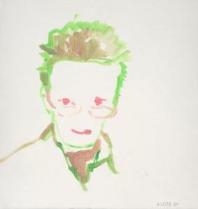 Autoportrait, 2008. Aquarelle, 24,3 x 25,5 cm